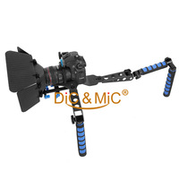 Stabillizer For Canon 5D2 7D 60D / DSLR Rig Movie Kit For Sony DSR-198P / Shouder Mount For Panasonic  AG-HMC163MC / MatteBox
