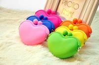 Colorful Silicone Coin Purse kawaii pouch carteira Bag Heart Hasp Silicone Money Bag Rubber Korean Style Coin Wallet