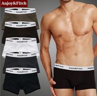 Anjoy & Fitch Brand men boxers shorts underwear Modal U bulge design hot sex ropa free shipping wholesale