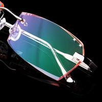 2014 Optical Glasses Frame Fashion Special Offer Freeshipping Solid Titanium Glasses Oculos De Grau Rimless Diamond Myopia Men