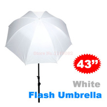 43 inch 110cm Photo Studio Flash Translucent White Soft Umbrella White Flash diffuser For DSLR Camera