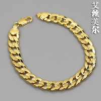 The New Elegant Hollow Filled Curb embossing Chain  bracelet  Gift pure color