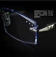 2014 promotion sale eyeglasses frame oculos de grau femininos eyeglass frames diamond glasses rimless myopia men commercial male