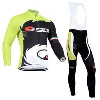 High quality !2014 SIDI Cycling Jersey Long sleeve and bicycle bib Pants ropa ciclismo clothing mtb maillot NX745