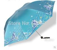 2014 Top Quality  Paradise parasol umbrellas UV sunscreen super creative folding umbrella pencil Vinyl sunscreen FREE SHIPPING