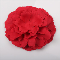 15-1 Trail order 10 colors baby girl fabric peony flower  DTY cute party lace flower dress/hair accessories 20pcs/lot