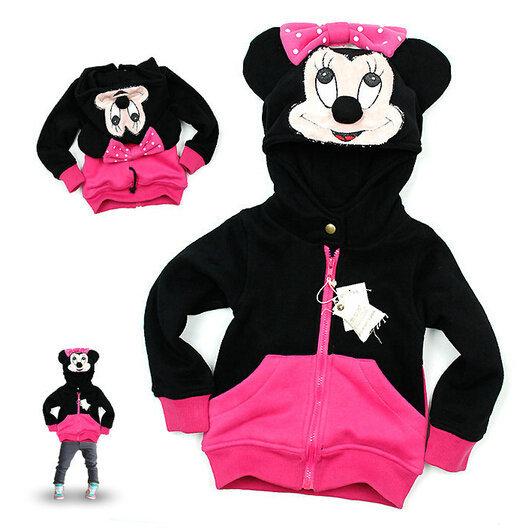 5pcs New Moda dos desenhos animados Minnie Mouse hoodies casacos e jaquetas crianças Kids outerwear bebê trajes jaquetas revestimento roupa do bebê(China (Mainland))