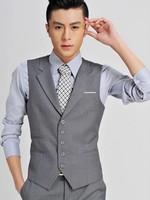 ternos masculino 2014 Men's suit vest men business men suit slim fit schaleco mens dress vest men wedding vest plus size XXXL
