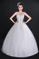 2014 New Design Short Lace Detachable Wedding Dresses Plus Size Vintage Pure White/ Ivory Custom Made Bridal Gown D-8056