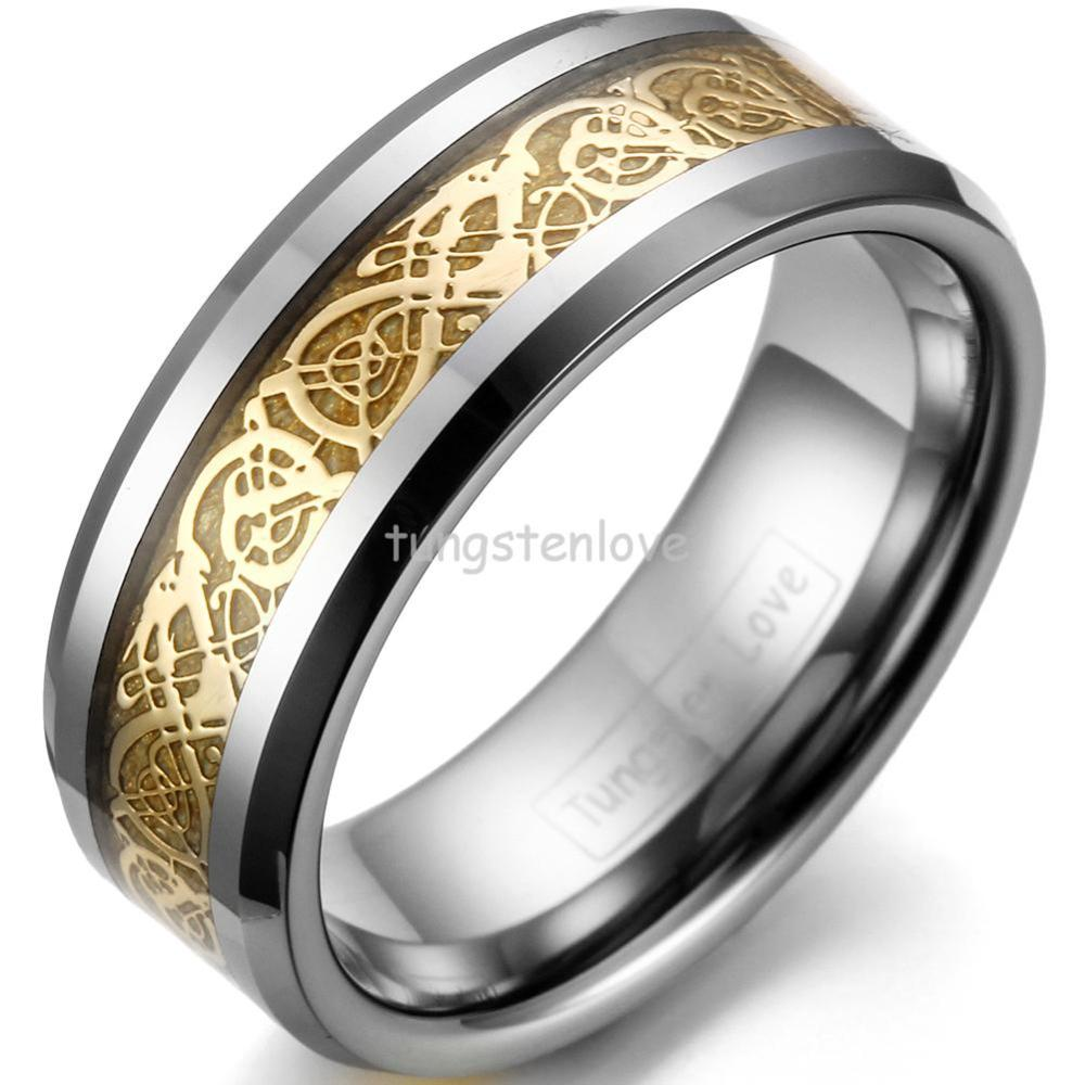 Herren Rose Gold Wedding Band