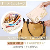 2014 New Multifunction small patterns cosmetic and travel storage bag / Wash bag/ bag in bag Floral package Free Shipping