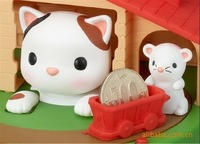 Novelty Funny Cat And Mouse Cute Coin Bank/Money Box With Music Piggy Bank