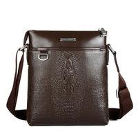 2014 Hot Crocodile Pattern Men's Shoulder Bags High-grade Leather Fashion Brand Designer Men Business Messenger Bag WJ1023