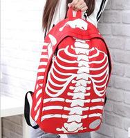 2014 new fashion three-dimensional skull pattern shoulder bag schoolbag printing student bag travel backpack wholesale