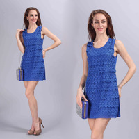 New embroidery sexy cocktail dress casual dresses women summer dress 2015 party dresses  free shipping