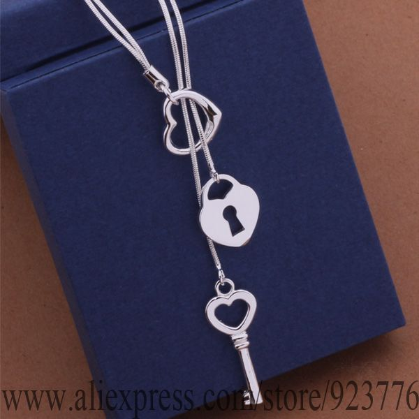 AN451 925 sterling silver Necklace, 925 silver fashion jewelry Tai chi key necklace /bmsakdza edtamvaa(China (Mainland))