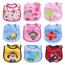 New Arrival Practical Cute Baby Kids Bib Pinny 3Layers Waterproof Purified Cotton Towel #2014 Free Shipping(China (Mainland))