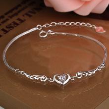 2014 New Fashion Jewelry Genuine 925 Sterling Silver AAA Grade Purple White Crystal Amgel Wings Chain
