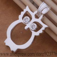 AN719 925 sterling silver Necklace 925 silver fashion jewelry pendant owl dkwamcda bghajxoa