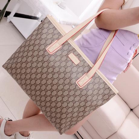2015 new brand original handbag best quality casual fashion cheap Plaid portable shoulder bag big factory female's bag(China (Mainland))