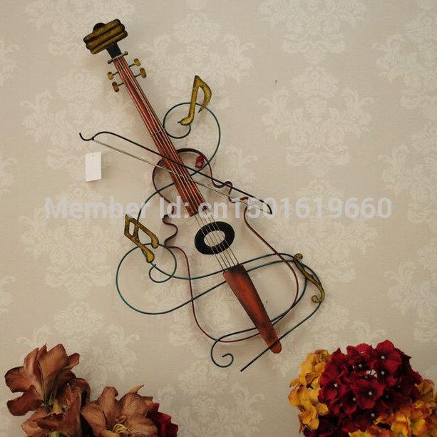 Bar da moda decoração violino decoração música ferro forjado decoração da parede acessórios(China (Mainland))