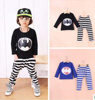 Free shipping han edition, 2014 new autumn outfit baby boys long sleeve suit children bat suit