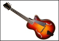yunzhi 17 inch f hole fully handmade solid wood jazz guitar
