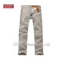 Mens Pants Zipper Off Outdoors Trousers Sport Cargo Pants Wide Leg Cotton/Nylon Vintage Washed Best Quality  Size29-34 #838