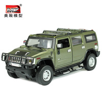 US -induced alloy car models 1:24 Hummer sport utility vehicle factory door racing high simulation children's toy car