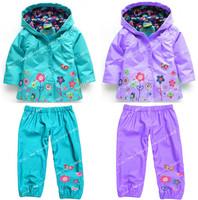 New 2014 children suit (hoodie + pants), children's hoodies, children's jacket, girl suits, children raincoat, 2 to 6 years.