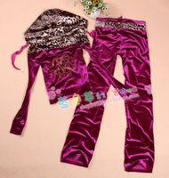 Leopard print color block decoration slim pleuche set velvet long-sleeve cardigan casual sports women's