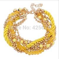 Best price for  Chain Rope Bracelets beads bracelet & Bangles Gift Christmas Bracelets For Women Men Jewelry 07