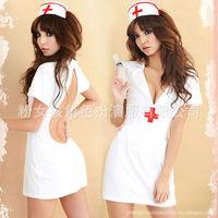 Hot Sale Sexy Lingerie Deep -V Fantasia Lolita Nurse Women Dress Sexy Costume Cosplay Fancy Dress Halloween Costumes for Women