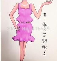 Exclusive designed fashion Thailand Form ruffle sexy summer dress female twinset set