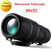 Telescopio Monocular Telescope 30x52 Spyglass Dual Focus Green Film Hunting Optical Prism High Quality Tourism Scope Binoculo