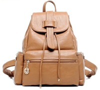 Free Shipping Cool fashion leisure all-match backpack high-grade personality trend elegant tide backpack