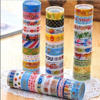 10Pcs New Arrival Mixed 15mm Adhesive Masking Tape Decorative DIY Paper Sticker  FG08005(10)