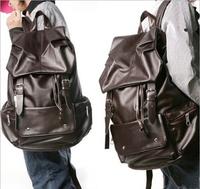 2014 casual men and women GE bag backpack student bags of high-grade pu waterproof travel bag large capacity schoolbag