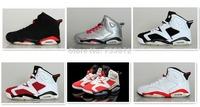6 color good quality men retro Oreo Infrared Carmine Olympic 6 basketball shoes