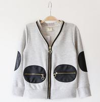 fyb12 gray / orange / blue kids jackets coats for children outerwear 3-8 age boy coat free shipping 5pcs/ lot