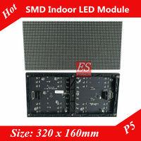 0 Profit ! P5 Indoor Dot-matrix Full Color SMD3528 LED Panel Module Size 320mm x160mm