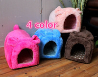 Free Shipping Mini plush cute bunny pet nest Arctic velvet small kennel Cat litter, 4 color S/L