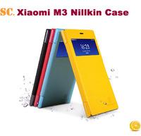 Original Nillkin Xiaomi Mi3 Case M3 Flip Case Blue Black Optional