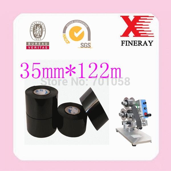 FINERAY brand FC3 35mm*122m type Date coding On HP-241b date coding machine hot foil ribbon film(China (Mainland))