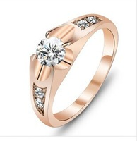 Aliancas de casamento em Ouro Coroa camouflage Engagement and Wedding ring 18k gold Plated rings Fashion jewellery Full size