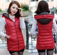 Women's clothing 2014 Autumn and winter women's cotton vest fashion winter jacket women slim casual vest outerwear coats