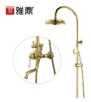 Copper bathroom shower bathroom shower set classical gold shower faucet shower head