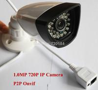 1.0MP HD 720P IP Camera Network P2P Onvif Security Night Vision Bullet IP Camera Outdoor Waterproof Use