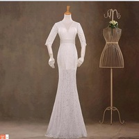 The new 2014 mermaid wedding dress red bride married vestido de noiva Ivory sexy wedding dresses free shipping bridal gown