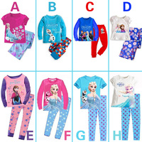 New 2014 frozen baby girls clothing sets/Children summer pajamas set/Elsa Anna princess clothes
